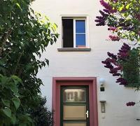 Hauseingangstür Holz 2-farbig