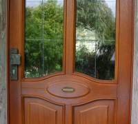 Hauseingangstür mit Bleiverglasung, Saalekreis