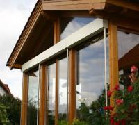 Wintergarten Holz mit Parallel-Schiebe-Kipp Tür, Salzatal