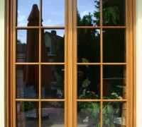 2-flg. Balkontür mit Wiener Sprossen