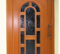 Hauseingangstür mit Rodenbergfüllung, Glas Barock bronze