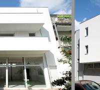 Moderne Holzfenster Balkon / Terrasse für MFH Halle