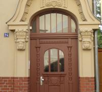 Eingangstür Holz Denkmalschutz, Halle/S., Schleifweg