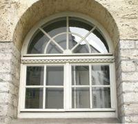 Stadtbad in Halle/Saale, Kastenfenster, Rundbogenfenster