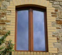 Holzfenster Standardfenster Stichbogen