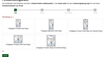 Online Fensterkonfigurator Holzfenster und Holztüren