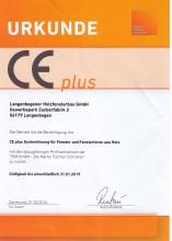 CE plus Systemprüfung für Fenster und Türen